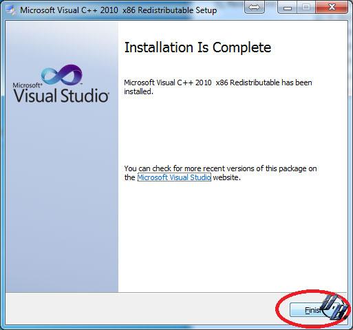 Bấn Finish để kết thúc cài đặt Visual studio