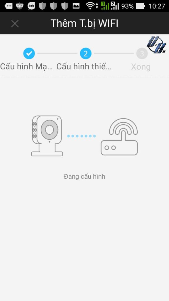 Phần mềm đang cấu hình mật khẩu WIFI cho camera