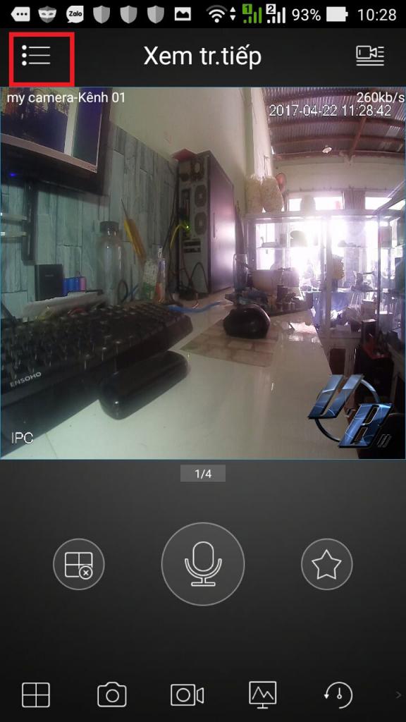 Chọn Dấu 3 gạch để truy cập chức năng xem lại video
