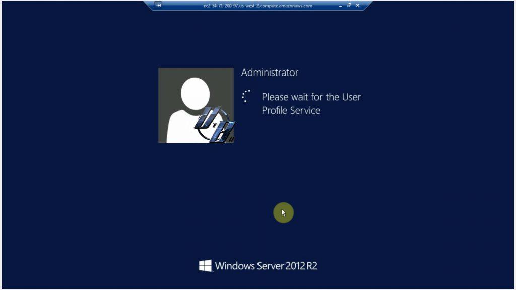 Màn hình đăng nhập Windows server 2012