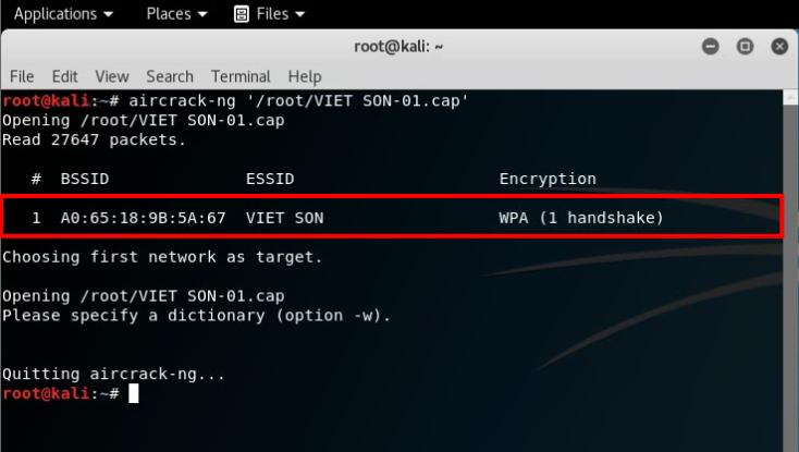 File có chứa chuỗi mật khẩu wifi cần dò được tìm thấy