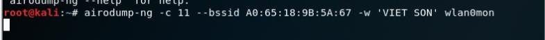 Câu lệnh bắt gói tin của người dùng đang kết nối