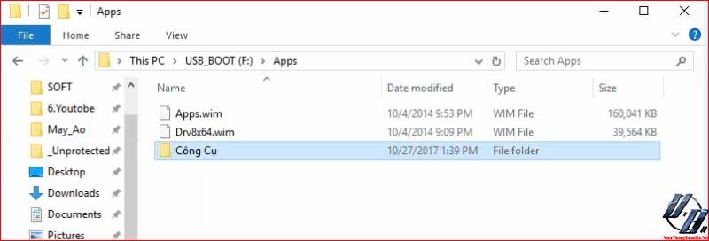 copy thư mục CÔNG CỤ vào APP trên USB