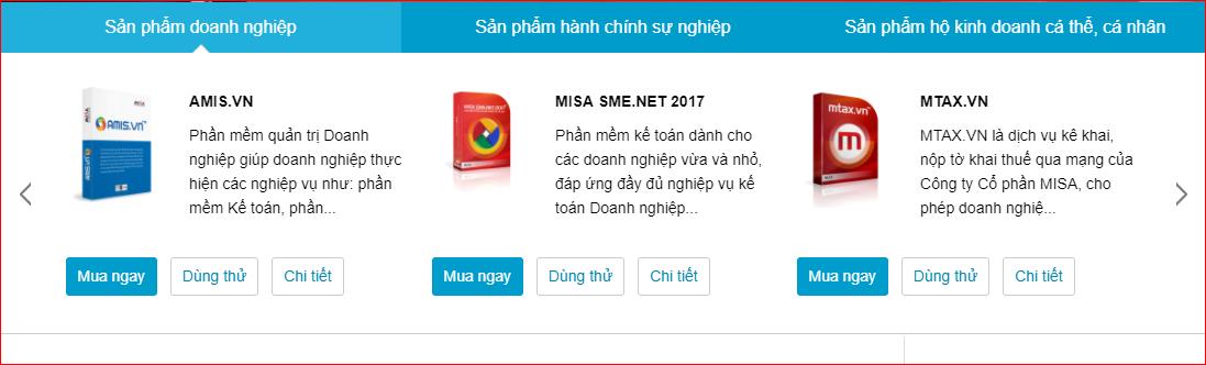 lựa chọn phiên bản MISA SME.NET 2017