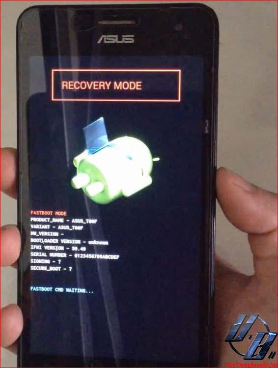 Nhấn phím Power để vào chế độ removery mode