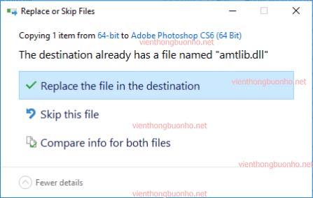 Chấp nhận thay thế file