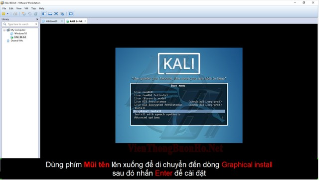 màn hình setup kali linux